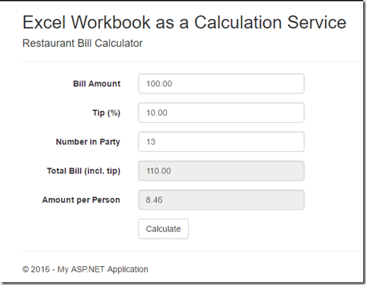 Web App Calculator